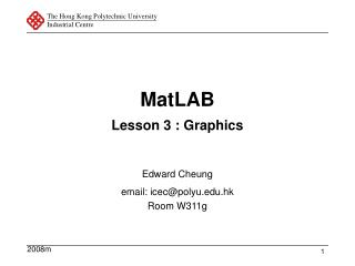 MatLAB Lesson 3 : Graphics