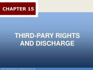 THIRD-PARY RIGHTS AND DISCHARGE