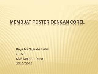 Membuat Poster dengan Corel