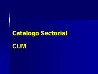 Catalogo Sectorial