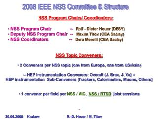 2008 IEEE NSS Committee & Structure