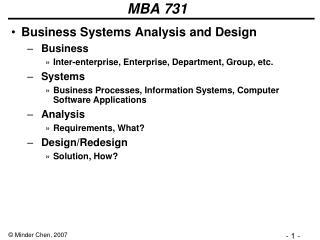 MBA 731