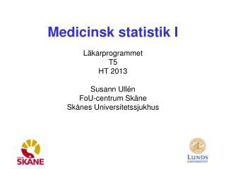 Medicinsk statistik I