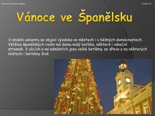 Vánoce ve Španělsku