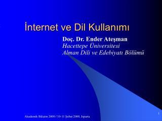 İnternet ve Dil Kullanımı