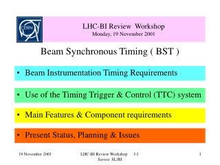 LHC-BI Review  Workshop Monday, 19 November 2001