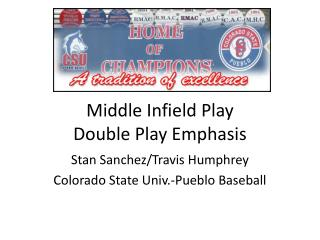 Middle Infield Play Double Play Emphasis