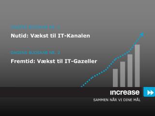 DAGENS BUDSKAB NR. 1 Nutid: Vækst til IT-Kanalen DAGENS BUDSKAB NR. 2