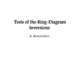 Tests of the Ring-Diagram Inversions