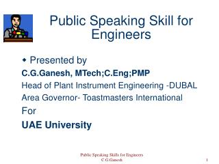 Public Speaking Skill for Engineers