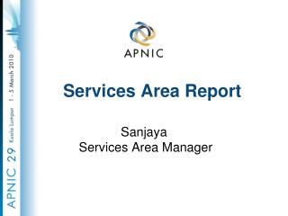 Services Area Report