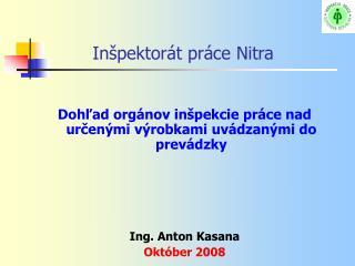 Inšpektorát práce Nitra