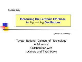 Toyota National College of Technology A.Takamura Collaboration with K.Kimura and T.Yoshikawa