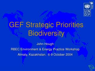 GEF Strategic Priorities Biodiversity