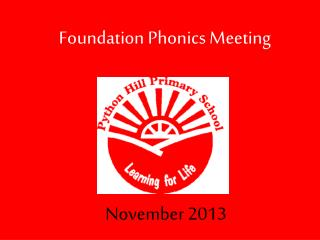 Foundation Phonics Meeting