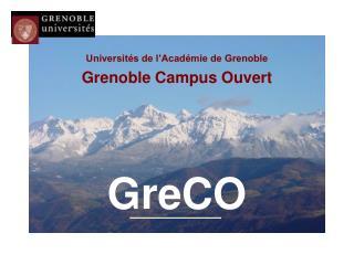 Universités de l'Académie de Grenoble Grenoble Campus Ouvert