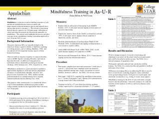 Mindfulness Training in Dane Hilton & Will Canu