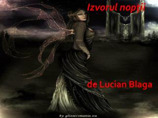 Izvorul nopţii de Lucian Blaga
