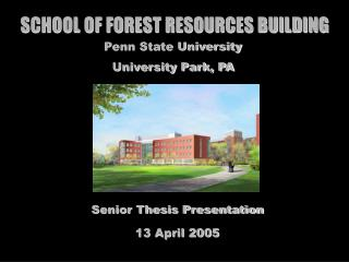 SCHOOL OF FOREST RESOURCES BUILDING
