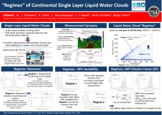"""""""Regimes""""  of Continental Single Layer Liquid Water Clouds"""