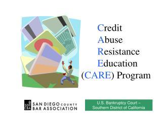 C redit A buse R esistance E ducation  ( CARE ) Program