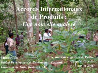 Accords Internationaux  de Produits : Une nouvelle analyse