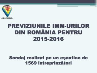 Activitățile de previzionare în IMM-urile din România