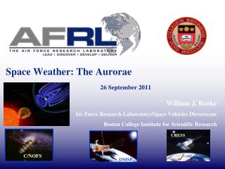 Space Weather: The Aurorae							 26 September 2011