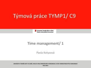 T�mov� pr�ce TYMP 1 / C9