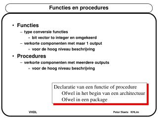 Functies en procedures