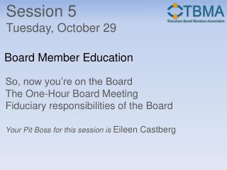 Board Member Education