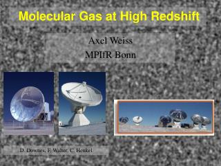 Molecular Gas at High Redshift