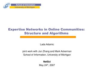 Expertise Networks in Online Communities: Structure and Algorithms