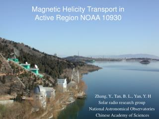 Magnetic Helicity Transport in  Active Region NOAA 10930