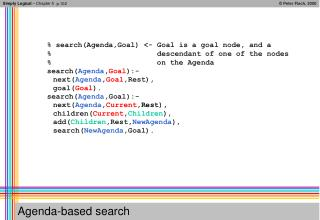 Agenda-based search