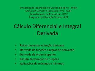 Cálculo Diferencial e Integral Derivada