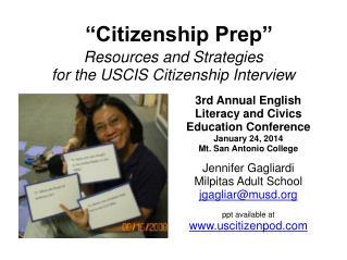 """""""Citizenship Prep"""""""