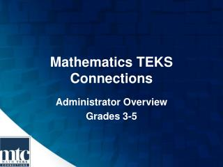 Mathematics TEKS Connections