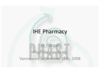 IHE Pharmacy