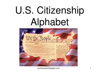 U.S. Citizenship Alphabet