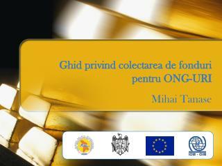 Ghid privind colectarea de fonduri pentru ONG-URI