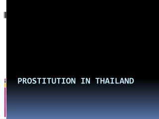 Prostitution in  thailand