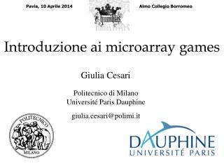 Introduzione ai microarray games
