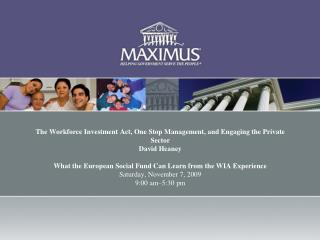MAXIMUS OVERVIEW