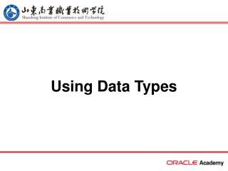 Using Data Types