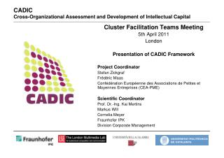 CADIC  Cross-Organizational Assessment and Development of Intellectual Capital