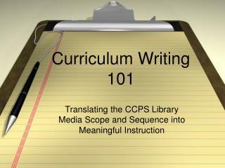 Curriculum Writing 101