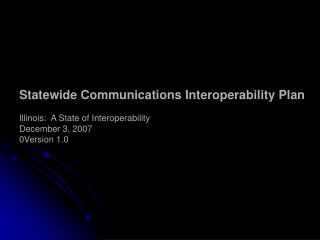 SAFECOM Interoperability Continuum