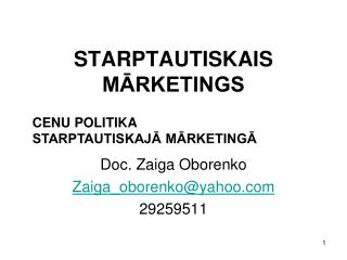 STA R PTAUTISKAIS MĀRKETINGS