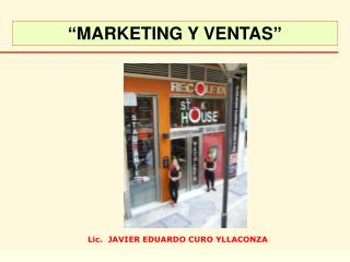 � MARKETING Y VENTAS �